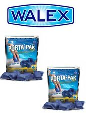 2x Walex Blue Porta Pak Holding Tank Deodorizer Toilet Chemical - Caravan, RV
