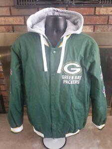 GREEN BAY PACKERS SUPER BOWL CHAMPIONS NFL FOOTBALL Hooded Jacket MENS SZ MEDIUM