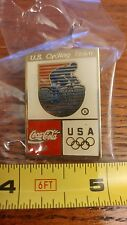 1992 Barcelona Coke USA Olympic Cycling Team NOC Sports Pin New in Plastic