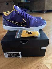 Size 10.5 Nike Zoom Kobe 4 Protro x Undefeated Court Purple HOF 2021