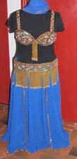 costume danse orientale bleu