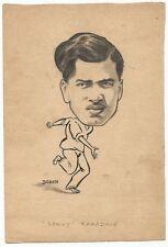 Cricket West Indies Sonny Ramadhin 1950 sketch by cartoonist R Booch India Ӝ