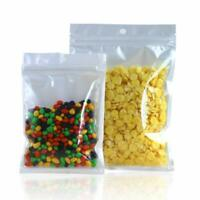 White Clear Plastic Zip Lock Bags & Hang Hole Resealable Retail Packages Pouches
