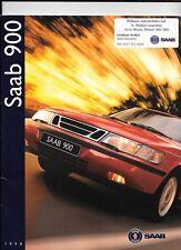 SAAB 900, 900 S, 900 se compresi talledega le vendite di automobili Brochure 1998