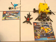 LEGO SPACE TRUCK GETAWAY 5972 +5981 SPACE POLICE RAID LOT OF 2 BUILT SETS