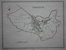 Original antique map CAMBRIDGE CITY POLITICAL Samuel Lewis, J&C Walker, c.1835