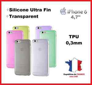 HOUSSE-COQUE-ETUI  iPhone 6/6S - 4,7'' Gel Silicone Transparent Ultra fin+Stylet
