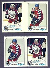1992-93 Kraft Cheese NHL All-Stars Proof Gutter Pair Gretzky/Coffey+ Issued Pair