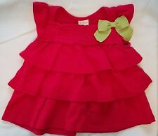 """Gymboree """"Cherry Cute"""" Red Tiered Ruffled Smock Swing Top, 6-12 mos."""