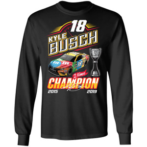 Kyle Busch NASCAR Cup Series Champion Men's Long Sleeve Tee Shirt