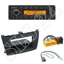 Continental TR7412UB-OR Radio + Mazda 6(GH) Blende rubber touch +ISO Adapter Set