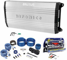 New Hifonics Brutus BRX616.4 600W RMS 4-Channel Car Amplifier+Amp Kit+Capacitor