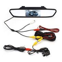 4.3'' LCD HD Car Rear View Mirror Monitor Night Vision Reverse Backup Camera Kit