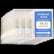 10 Boxes Tr 25 Mani Dia Burs Fg 16mm Dental High Speed Handpiece Diamond Bur