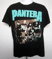Mens Pantera No Hostile T shirt large band member logo black