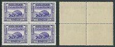 1932 SOMALIA PITTORICA 10 LIRE D. 12 QUARTINA MNH ** - K173-3
