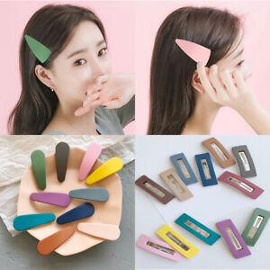 1Pcs Candy Color Matte Mini Hair Clip Waterdrop Barrette Girls Hairpins Hairgrip