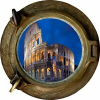 Huge 3D Porthole Coliseum View Wall Stickers Film Mural Art Decal Wallpaper 32