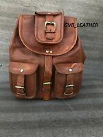 Women's Laptop Backpack Vintage Leather Day pack Hiking Rucksack Bag Satchel