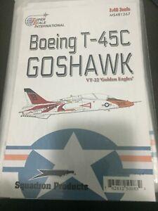 SUPER SCALE DECAL  #481267  1/48TH SCALE T-45C GOSHAWK     (GPM)