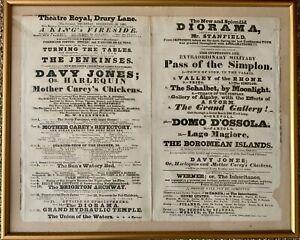THE THEATRE ROYAL DRURY LANE /  DOUBLE PLAYBILL 1830 THE PANTOMIME ''DAVY JONES'
