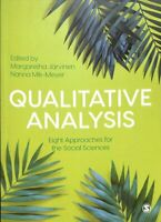Qualitative Analysis Eight Approaches for the Social Sciences 9781526465252