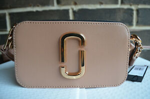NWT $295 Marc Jacobs THE SNAPSHOT SUNKISSED Camera Bag X-body beige