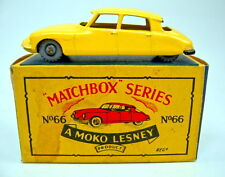 "Matchbox RW 66A Citroen DS gelb rare 1. Gußform in ""MOKO"" Box"