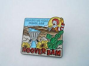 NOS Vintage McDonalds Advertising Enamel Pin #17 - HOOVER DAM