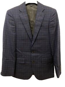 NEW J.Crew Ludlow Slim Suit Jacket Italian Stretch Windowpane Wool 34S J3324