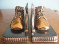 VINTAGE BRONZE BABY SHOES BOOKENDS BY ALICE AMES BOSTON MASS