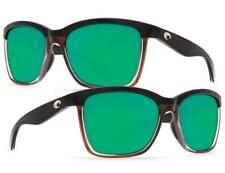 Women's COSTA DEL MAR Anaa Sunglasses Black on Brown w/ Green Mirror 580P Lenses