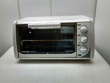 Black+Decker Electric Counter Top 4 Slice White Toaster Oven Spacemaker Saver