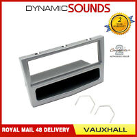 Single Din Matt Chrome Fascia Panel Adaptor + Keys For Vauxhall ASTRA H 04-10