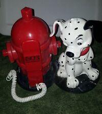 Vintage Disney 101 Dalmatians Spot Red Fire Hydrant Telephone Brooktel