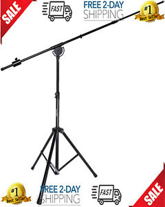"""LyxPro SMT-1 Professional Microphone Stand Heavy Duty 93"""" Studio Overhead Boom"""