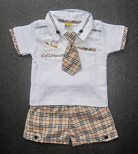 Unbranded Checked Outfits & Sets (0-24 Months) for Boys