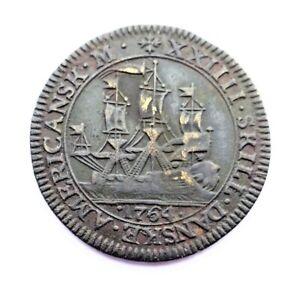 Danish West Indies -  24 Skillings  - 1764 - Off metal Brass