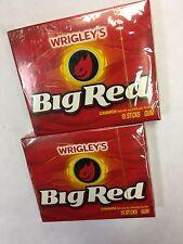 WRIGLEYS BIG RED Cinnamon Flavoured Chewing Gum 2 PACKS Great Value AMERICAN GUM