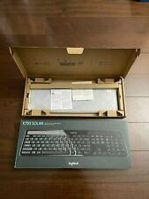 New Logitech K750 Wireless Solar Keyboard - Black - Original Box