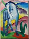"Franz Marc Vintage Abstract Art CANVAS PRINT Blue Horse poster 24""X18"""