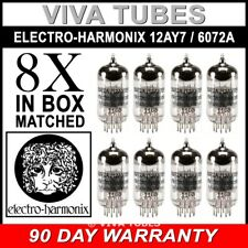 Brand New Gain Matched Octet (8) Electro-Harmonix 12AY7 / 6072A Vacuum Tubes