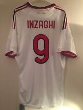 Inzaghi Ac Milan 2009-2010 Away Soccer Football Jersey Shirt Men's XL