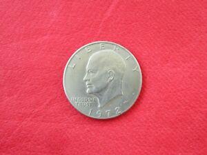 """1972 Eisenhower """"Ike"""" Liberty Dollar Denver Mint Mark Moon Landing Commemoration"""