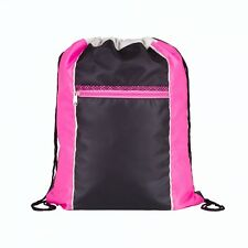 Neon Drawstring Bags 4 X Colours Sport Gym School Swimming Holiday Travel Beach Pink