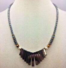 Natürliche Echtschmuck-Halsketten & -Anhänger mit Hämatit für Damen