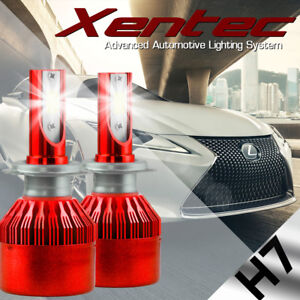 White 6000K High Power H7 388W 6400LM CREE LED Headlight Kit Hi/Low Beam Bulbs