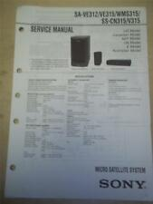 Sony Service Manual~SA-VE312/VE315 Speaker System~Original~Repair