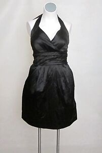 NEW Satin Halter Purple or Black Cocktail Party Dress 18/20 22/24 20W or 22W