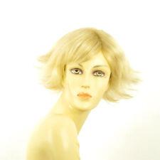 Perruque femme courte blond doré méché blond très clair  AMBRE 24BT613